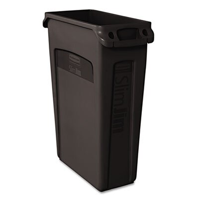 Rubbermaid Commercial Slim Jim® 23-Gal. Rectangular Wastebasket with Venting Channel