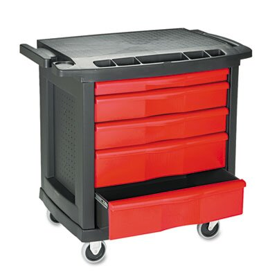 Rubbermaid Commercial 5-Drawer Mobile Workcenter