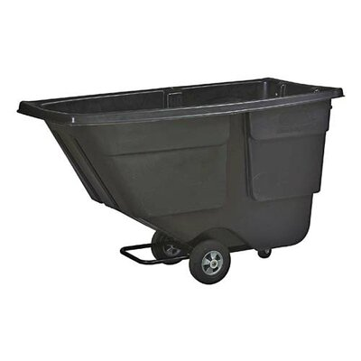 Rubbermaid One Cubic Yard Service Tilt Truck, Black