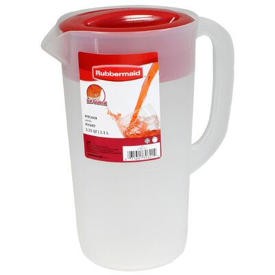 Rubbermaid 2.25 Quart Covered Pitcher in Clear