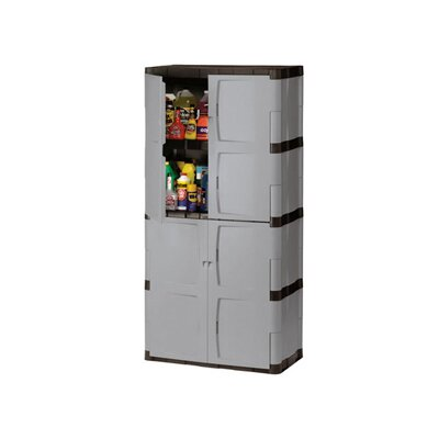 "Rubbermaid 72"" Mica & Charcoal Full Double Door Cabinet FG708300MICHR"