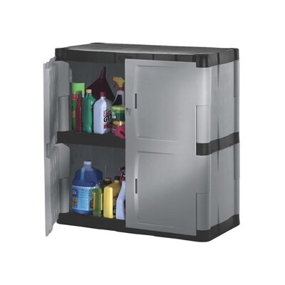 Rubbermaid Double-Door Storage Cabinet - Base in Gray / Black