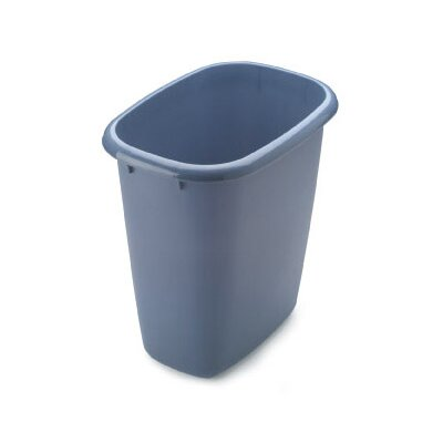 Rubbermaid 6 Quart Blue Vanity Wastebasket