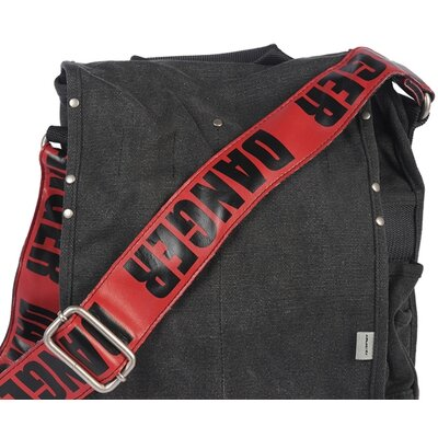 Ducti Danger Utility Messenger Bag in Red