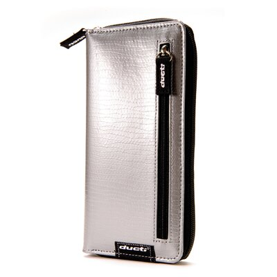 Double Zippered Wallet in Silver