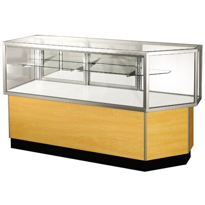 "Sturdy Store Displays Streamline 38"" x 80"" Half Vision Corner Combination Showcase with Mirror Back"