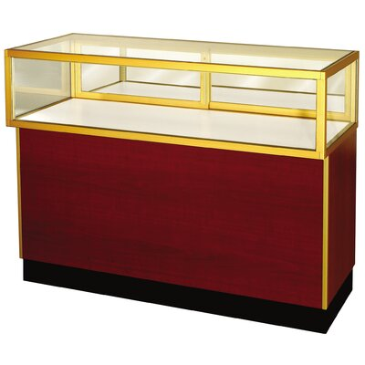"Sturdy Store Displays Streamline 38"" x 60"" Jewelry Vision Standard Showcase with Panel Back"
