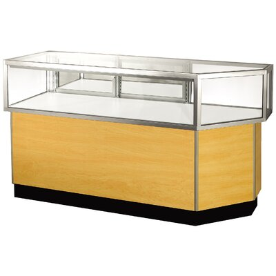 "Sturdy Store Displays Streamline 38"" x 80"" Jewelry Vision Corner Combination Showcase with Mirror Back"
