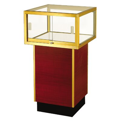 "Sturdy Store Displays Streamline 38"" x 24"" Square Pedestal Case"