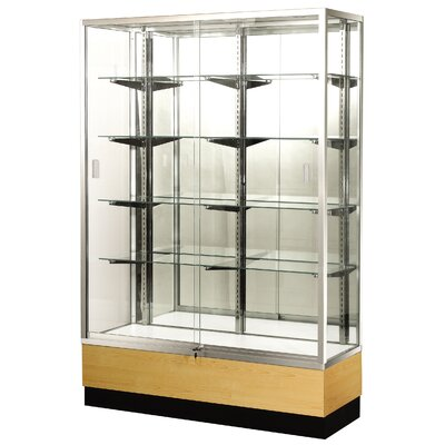 "Sturdy Store Displays Streamline 48"" x 18"" Trophy Case with Panel Back"