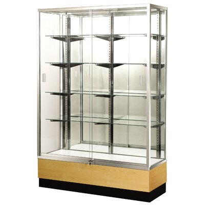 "Sturdy Store Displays Streamline 70"" x 18"" Trophy Case with Panel Back"