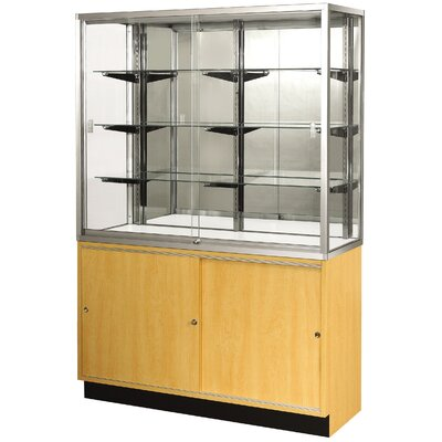 "Sturdy Store Displays Streamline 70"" x 15"" Wallcase with Mirror Back"