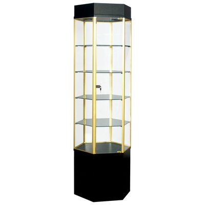 Sturdy Store Displays Freedom Hexagonal Tower Display Cabinet