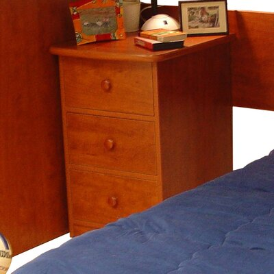 Berg Furniture Utica 3 Drawer Nightstand