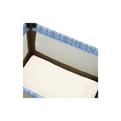 Baby Luxe Certified Organic Cotton Play Yard Sheet with Safety Corners in Natural