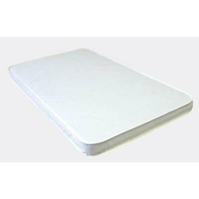 Baby Luxe by Priva Porta-crib Pad Quilted White Vinyl