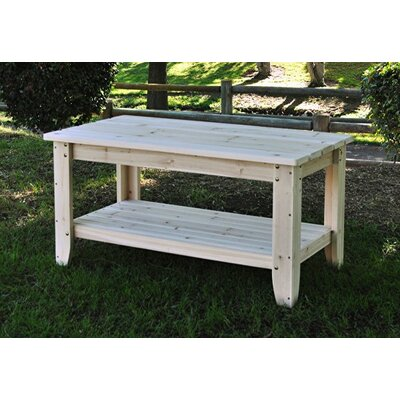 Shine Company Inc. Rectangular Cedar Chat Table