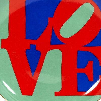 "PS Collection Robert Indiana ""Love"" Dessert / Salad Plate"