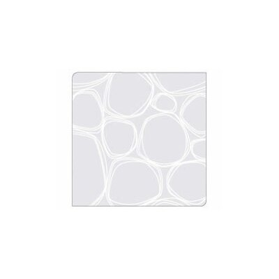 Modern-Twist Coaster Notes Pebbles in White on Clear Base