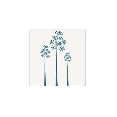 Modern-Twist Coaster Notz Tree of Us Teal on Clear Base