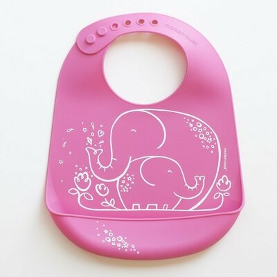 Modern-Twist Elephant Hugs Bib