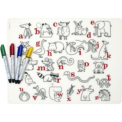 Modern-Twist Mark-mat Kid Box Alphabet Animals + 4 Markers
