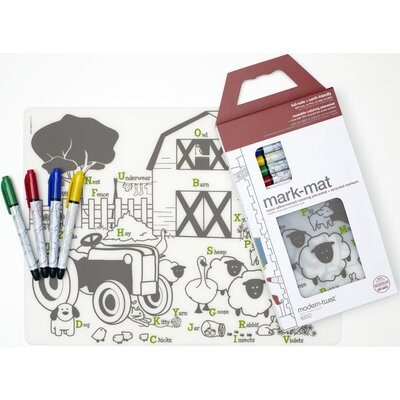 Modern-Twist Mark-mat Kid Box: Farm Buddies + 4 Markers