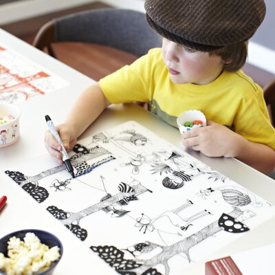 Modern-twist Mark-mat Kid Box Day At The Pond Placemat