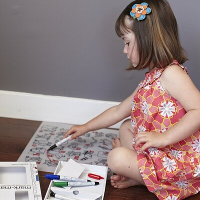 Modern-twist Mark-mat Kid Box Alphabet Animals + 4 Markers
