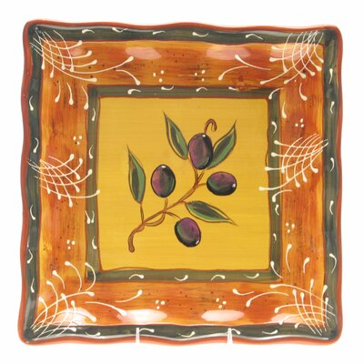 "Certified International French Olives 13.25"" Square Platter"