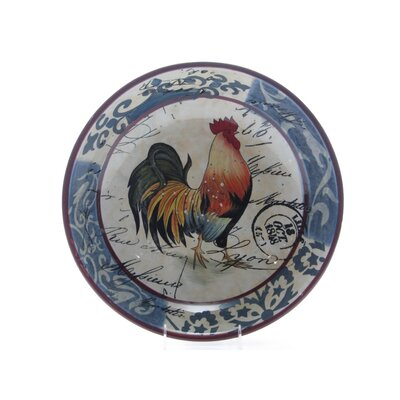 "Certified International Lille Rooster by Geoffrey Allen 15.88"" Pasta / Serving Bowl"