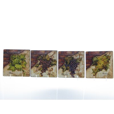 Certified International Wine Cellar by Tre Studios Canape Plate (Set of 4)