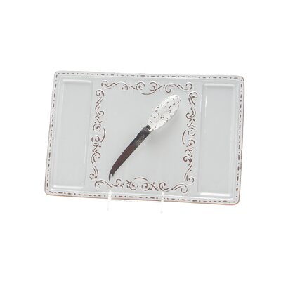 Certified International Romanesque by Karidesign Cheese Platter with Knife