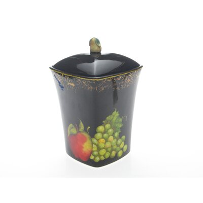 Certified International Fruit Filigree Biscuit Jar by Susan Winget