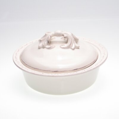 Certified International Firenze Ivory Round Baker with Lid by Pamela Gladding