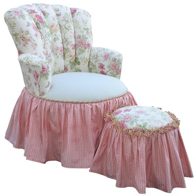 Angel Song English Bouqet Princess Glider Ottoman
