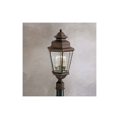 Kichler Savannah Estates 3 Light Outdoor Post Lantern