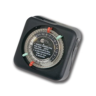 Outdoor Enclosure Timer in Black Material