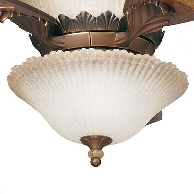 Kichler Golden Iridescence Three Light Bowl Ceiling Fan Light Kit