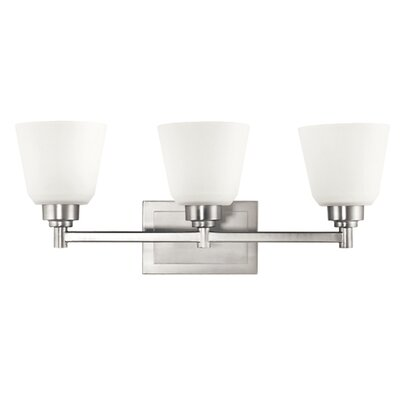 Kichler Berwick Three Vanity Light in Brushed Nickel