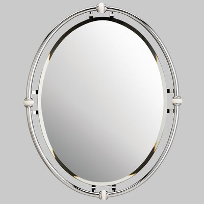 Oval Beveled Mirror
