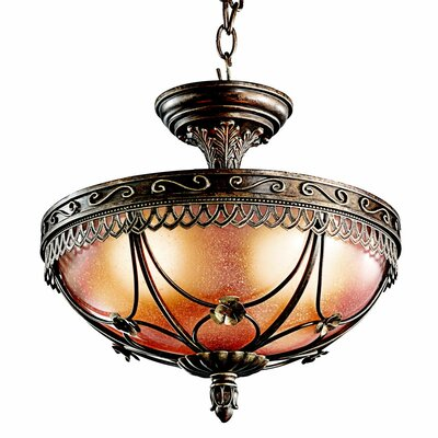 Marchesa 3 Light Semi Flush Mount