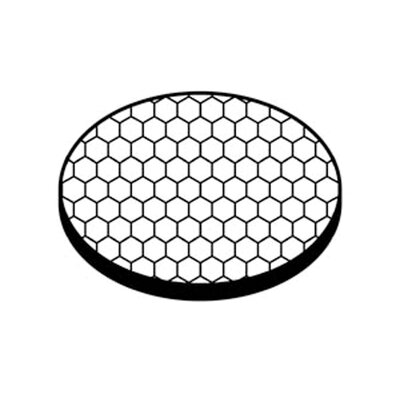45 Degree Black Material Hexcell Louver Sheild Accent Lens
