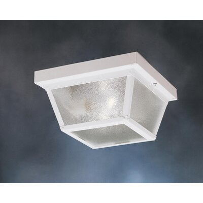 Kichler  Incandescent Outdoor Flush Mount in White