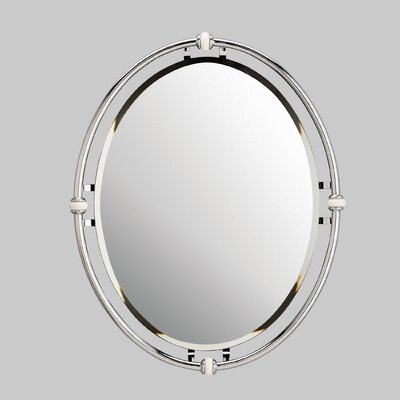 Kichler Oval Beveled Mirror in Chrome with Porcelain Trim