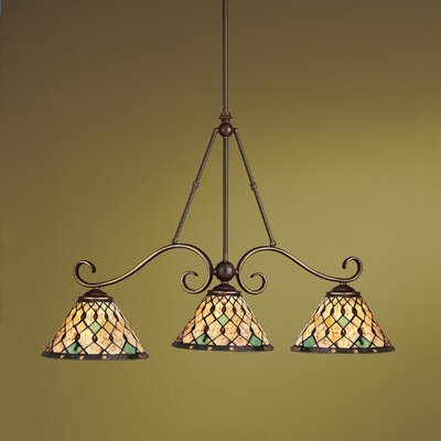 Tiffany 3 Light Kitchen Island Pendant