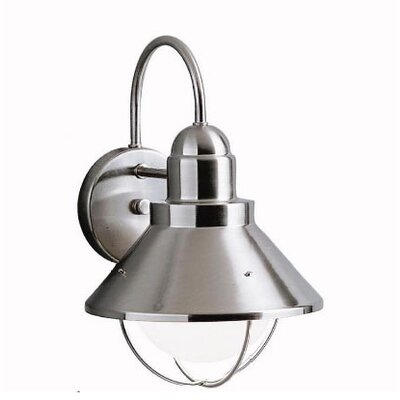 Kichler Seaside Outdoor Wall Lantern in Brushed Nickel