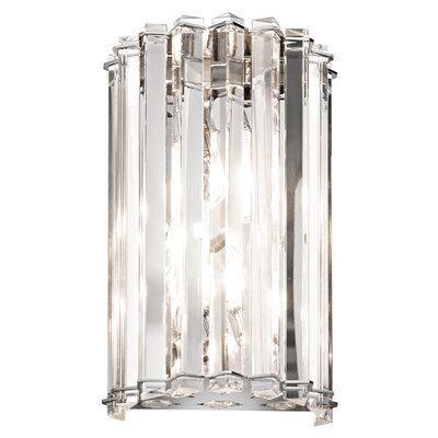 Kichler Crystal Skye 2 Light Wall Sconce | Wayfair