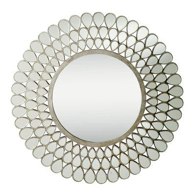 "Kichler 0.9"" Mirror in Antique Silver"