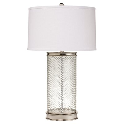 "Kichler Herringbone Portable 28"" H Table Lamp with Drum Shade"